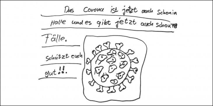 Corona-Virus und Multiple Sklerose - Patienten-Umfrage (extern) - Bild: V. F. Vinzens (10 Jahre) vom 24.03.2020